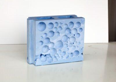 Schaumziegel Blau